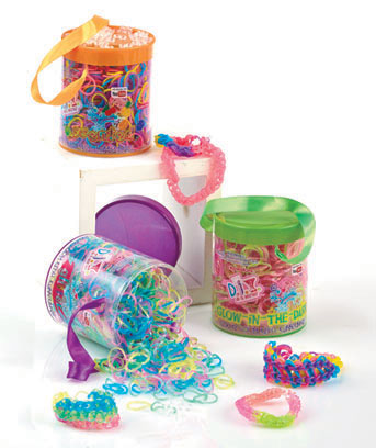 Loom Bands Refill Tubs with Clips