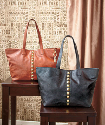 Pyramid Stud Tote Bags