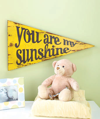 Wooden Wall Pennants