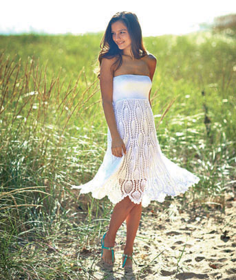 Women's White Crochet Convertible Coverup
