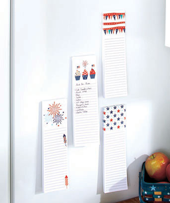 Sets of 4 Patriotic Magnetic List Pads