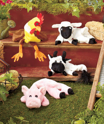 Stuffing-Free Farm Animal Dog Toys