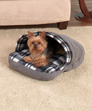 Plaid Slipper Pet Beds