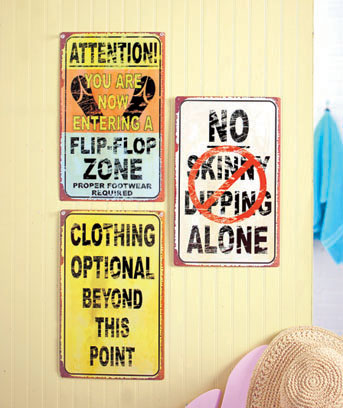 Humorous Pool Signs