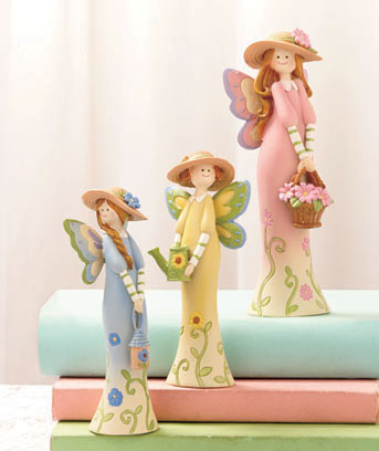 Butterfly Fairies 3-Pc. Figurine Set