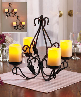 3-In-1 Convertible LED Candleholder Set