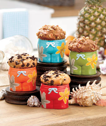 Sets of 4 Muffin Serving Pieces