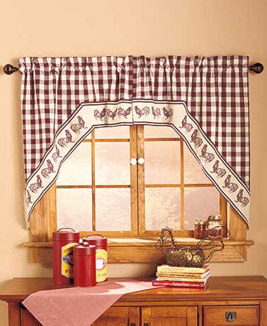 Swag-Style Country Curtain Sets