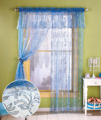 Bling Window Panel or Valance