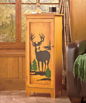 Rustic Wildlife Cabinets