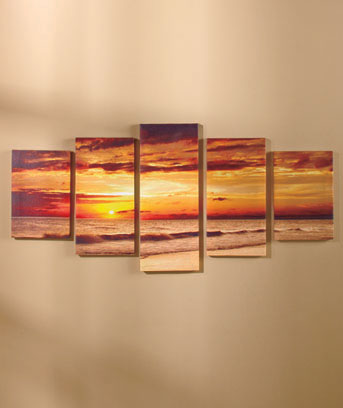 Setting Sun 5-Pc. Canvas Wall Art Set