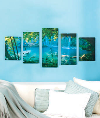 Secret Waterfall 5-Pc. Canvas Wall Art Set