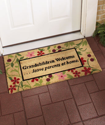 "Grandchildren Welcome 36"" Doormat"