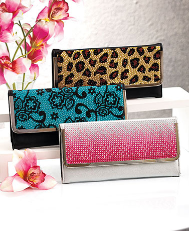 Frame Lock Bling Wallets