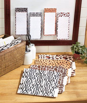 16-Pc. Animal Print List Pads and Folders Set