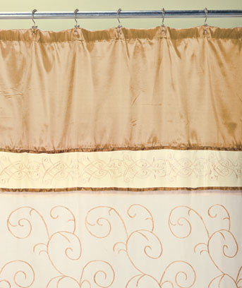 Scroll Embroidered Shower Curtains