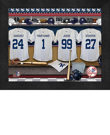Personalized MLB Locker Room Print