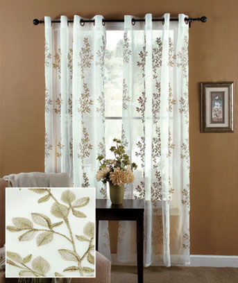 Lombard Embroidered Window Panel