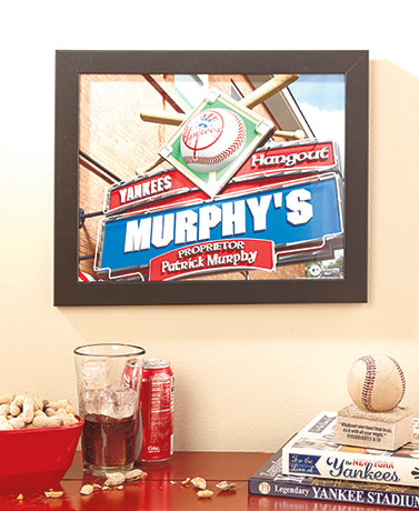 Personalized MLB Sports Pub Print