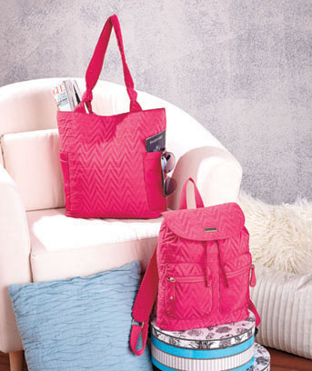 Lightweight Quilted Totes or Backpacks