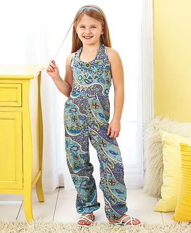 Girls' Printed Rayon Jumpers