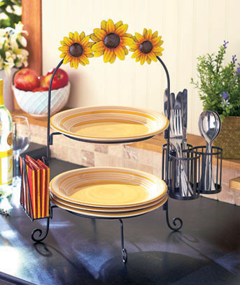 2-Tier Plate Rack and Utensil Holders