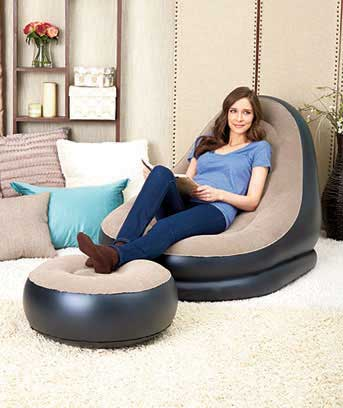 Inflatable Deluxe Lounge with Ottoman