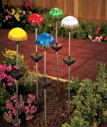 "28"" Colorful Solar Stakes"