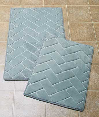 2-Pc. Memory Foam Bricks Bath Rugs