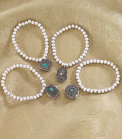 Prayer Box Charm Stretch Bracelets