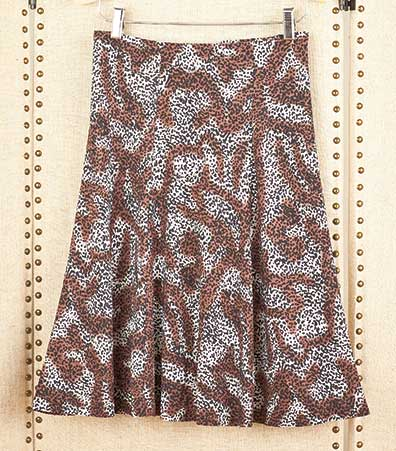 Women's Easy-Fit Printed Knit Skirts