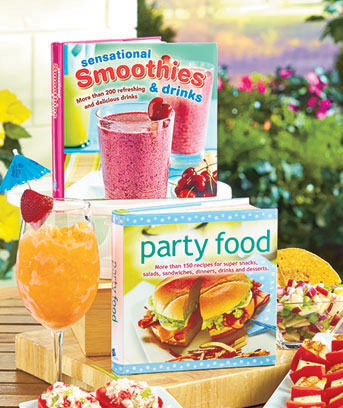 Party Food or Smoothies & Drinks Cookbooks