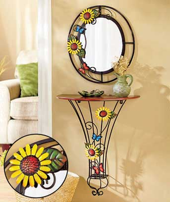 Handpainted Butterfly Blossom Tables or Mirrors