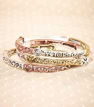 Sets of 3 Inspirational Bangles