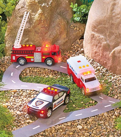 3-Pc. Light & Sound Emergency Vehicle Set