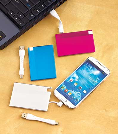 Ultra-Thin Credit Card Power Banks