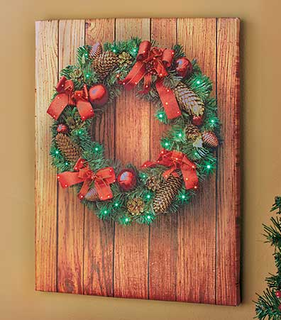 Lighted Holiday Wall Art
