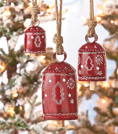 Sets of 3 Handpainted Harmony Bells