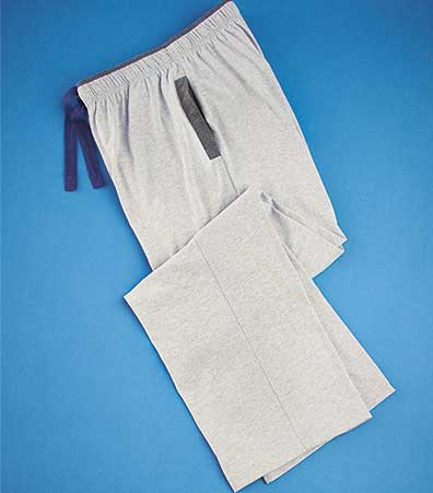 Men's Contrast Trim Knit Lounge Pants