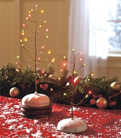 Lighted Tabletop Trees