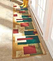 Boxes Extra-Long Decorative Runner Rugs