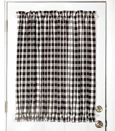 Country Check Door Panel Curtain