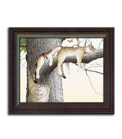 Framed Personalized Prints - Cat Nap