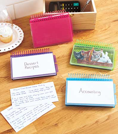Set of 4 View-Front Index Card Booklets