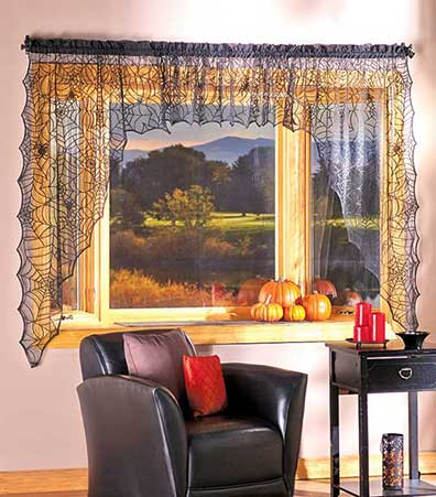 Spider Web Lace Window Curtains