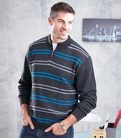 Men's Diamond Cable Knit Sweaters