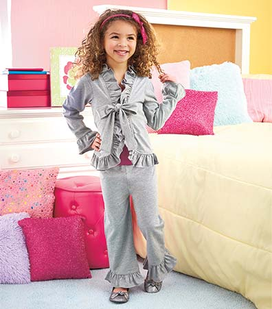 2-Pc. Girls' Ruffle Cardigan and Pant Sets