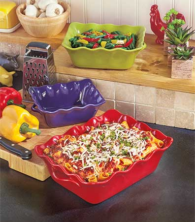Set of 3 Colorful Baking Dishes