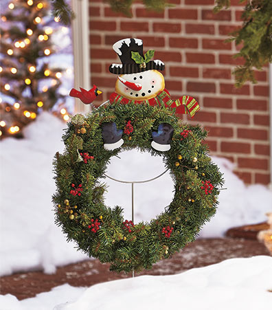 Holiday Wreath Hanger Stakes
