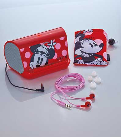 Minnie Mouse Speaker & Earphone Set